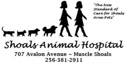 shoals animal hospital logo the new standard of care for shoals area pets