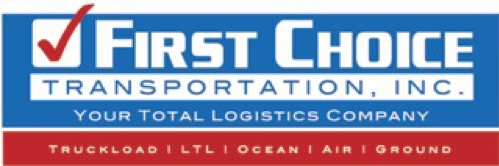 first choice transportation in logo your total logistics company